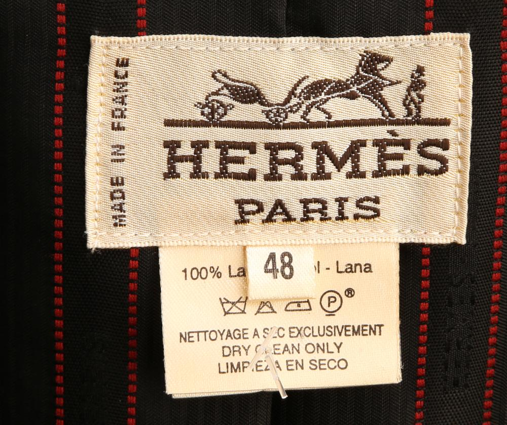 A black Hermès jacket