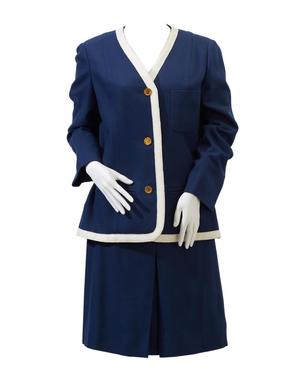 An Hermès Sport skirt suit