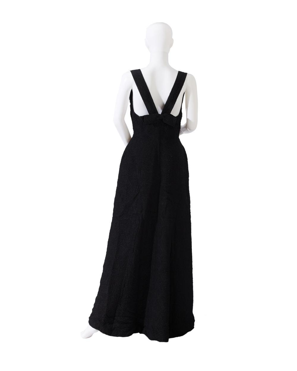 Two Elizabeth Arden sleeveless evening gowns