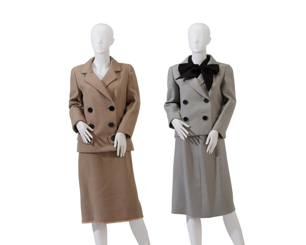 Two Norman Norell skirt suits
