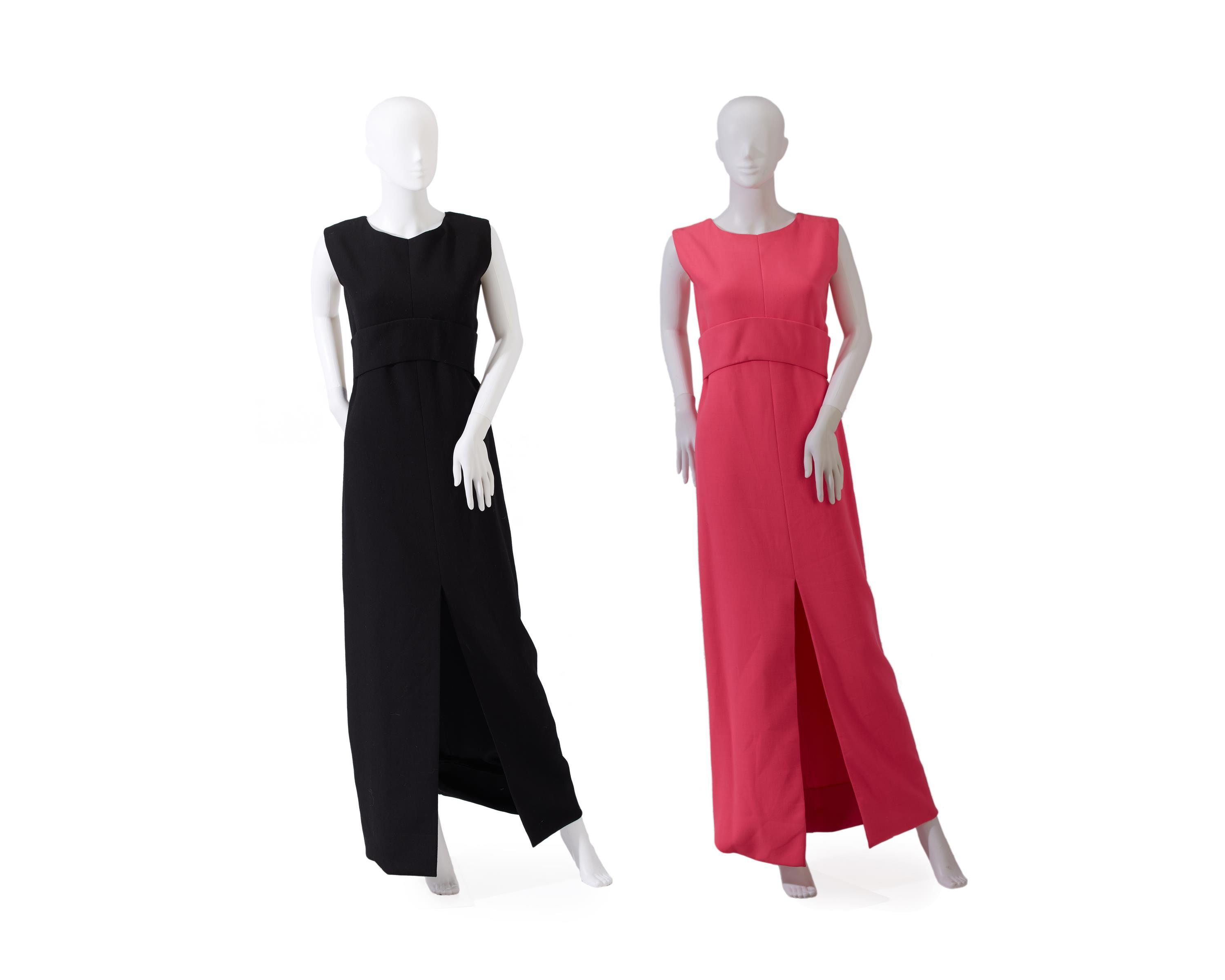 Two Norman Norell evening dresses