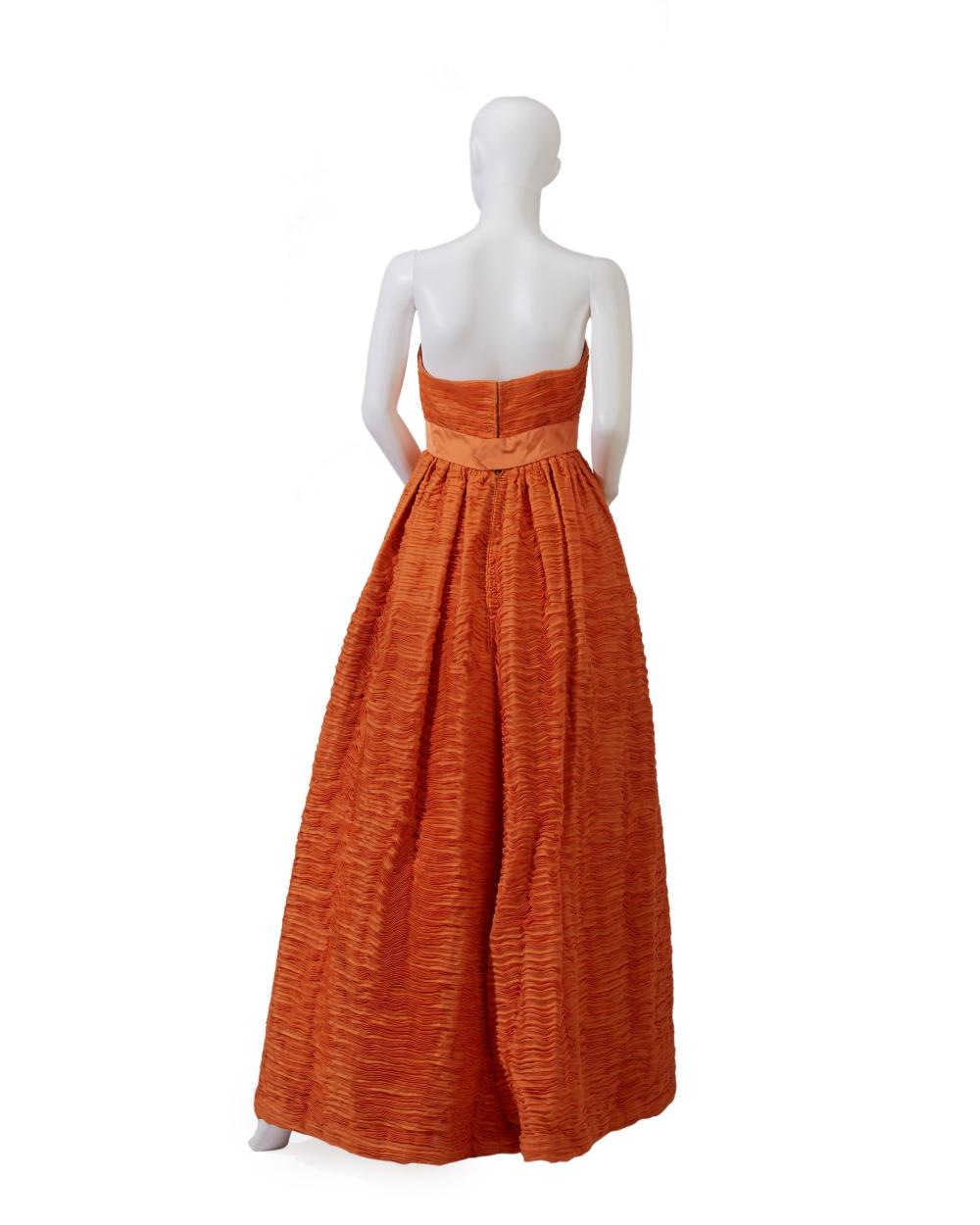 A Sybil Connolly Irish linen evening gown