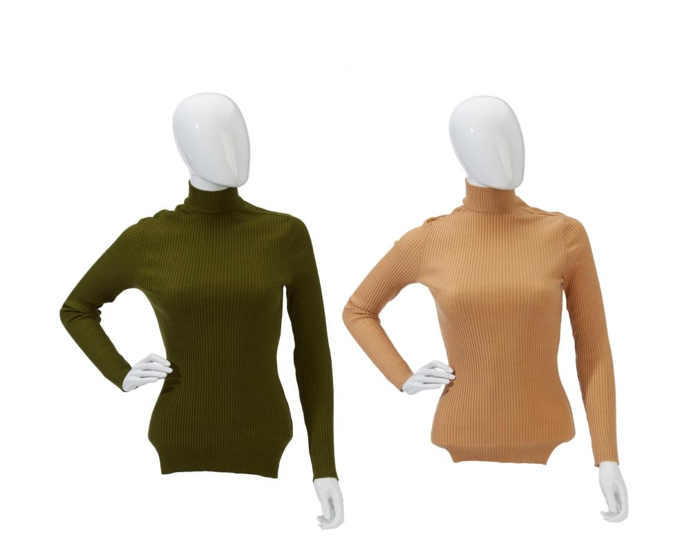 Two Hermès mock turtleneck sweaters