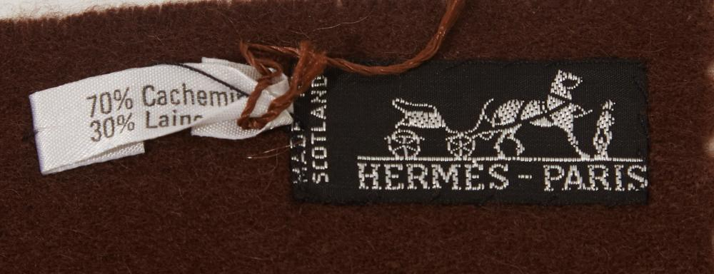 An Hermès cashmere blanket