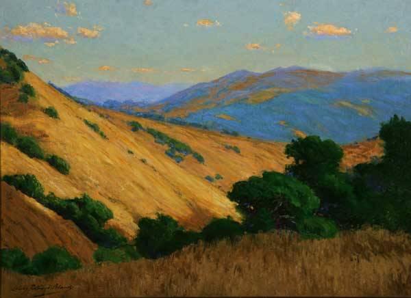 Charles Partridge Adams (1858-1942 Pasadena, CA) Afternoon - Santa Lucia Mountains, CA s l/l: Charles Partridge Adams o/c 22x30 est:$20,000/30,000