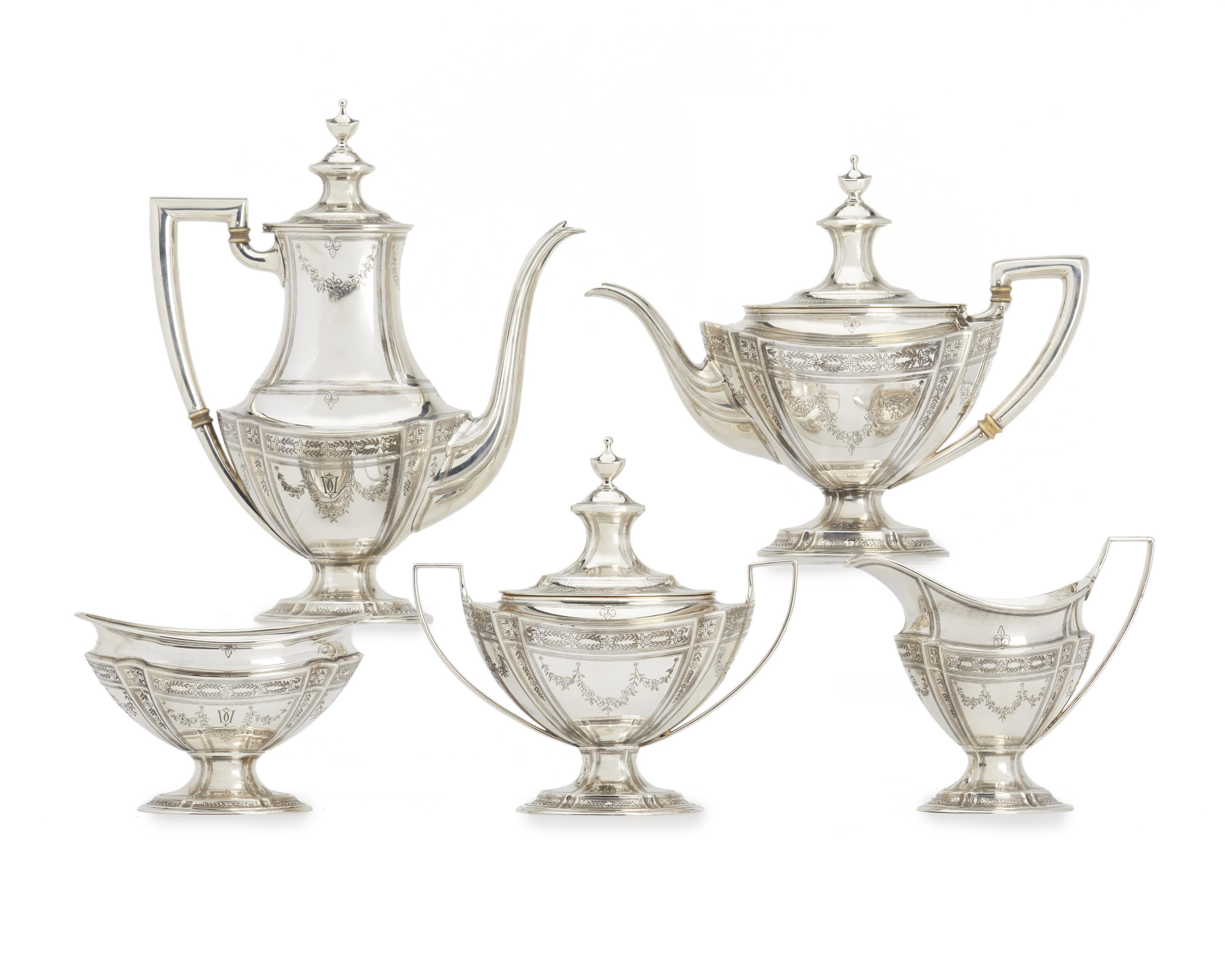 A Tiffany & Co. sterling silver coffee and tea service