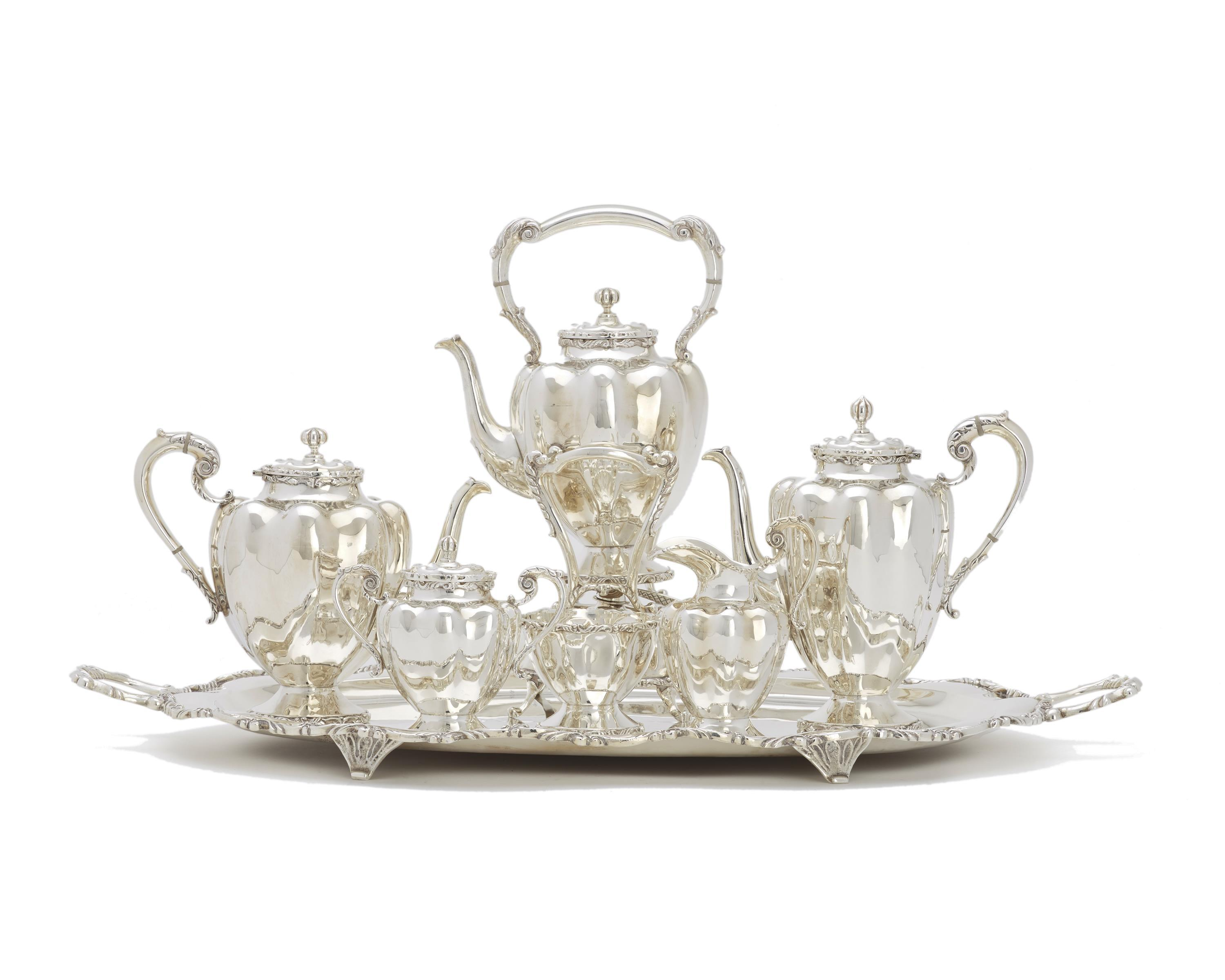 A Mexican silver tea and coffee service