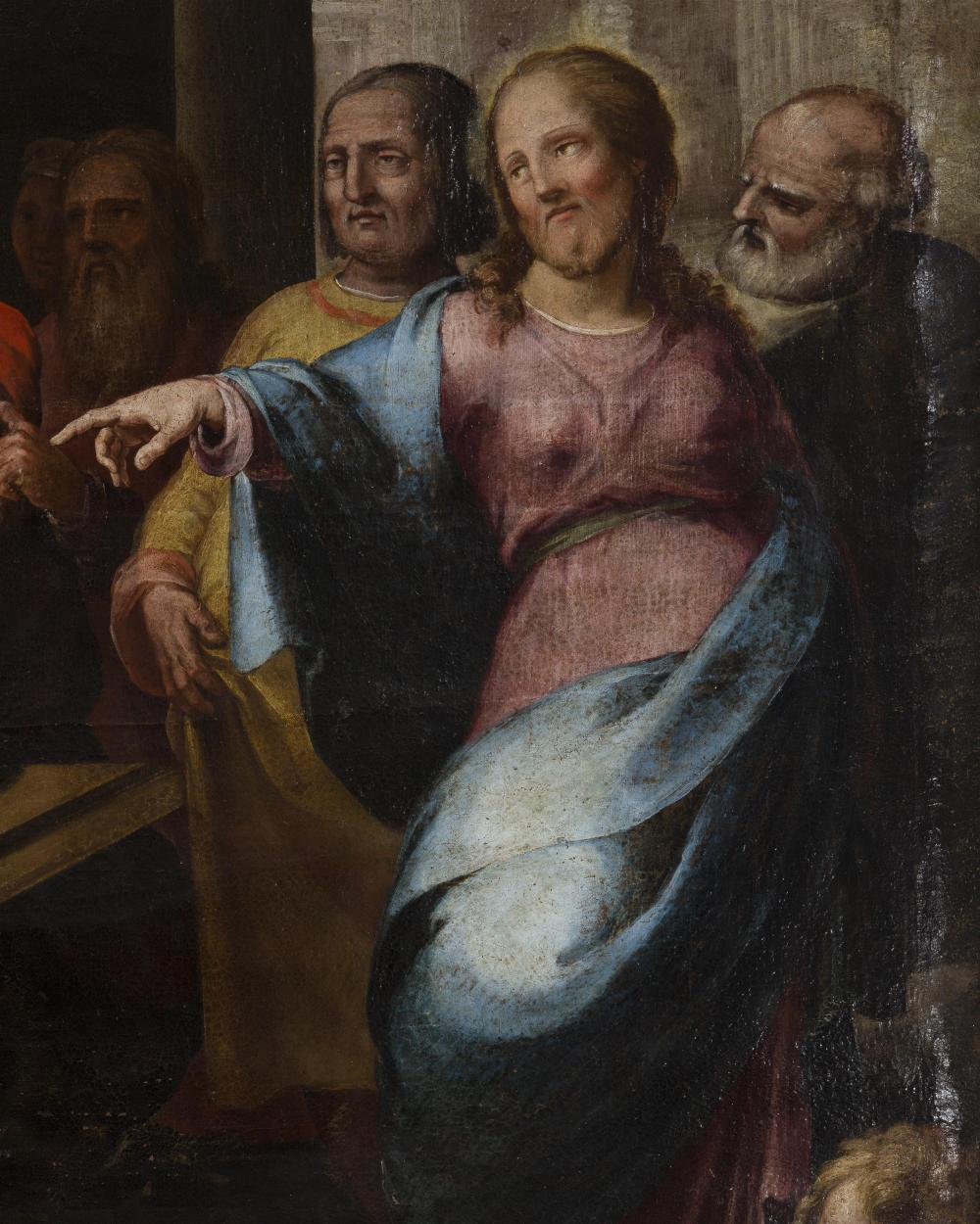 Jesus Christ in an interior with figures
