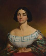 "John Insco Williams, (1813-1873 Cincinnati, OH), ""Aunt Margaret,"" Circa 1850, Oil on canvas, 30"" H x 25"" W"
