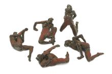 Robert Graham, (1938 - 2008 Santa Monica, CA), Five nude figural bronzes, Each: bronze with brown and red patina, The backbending figur