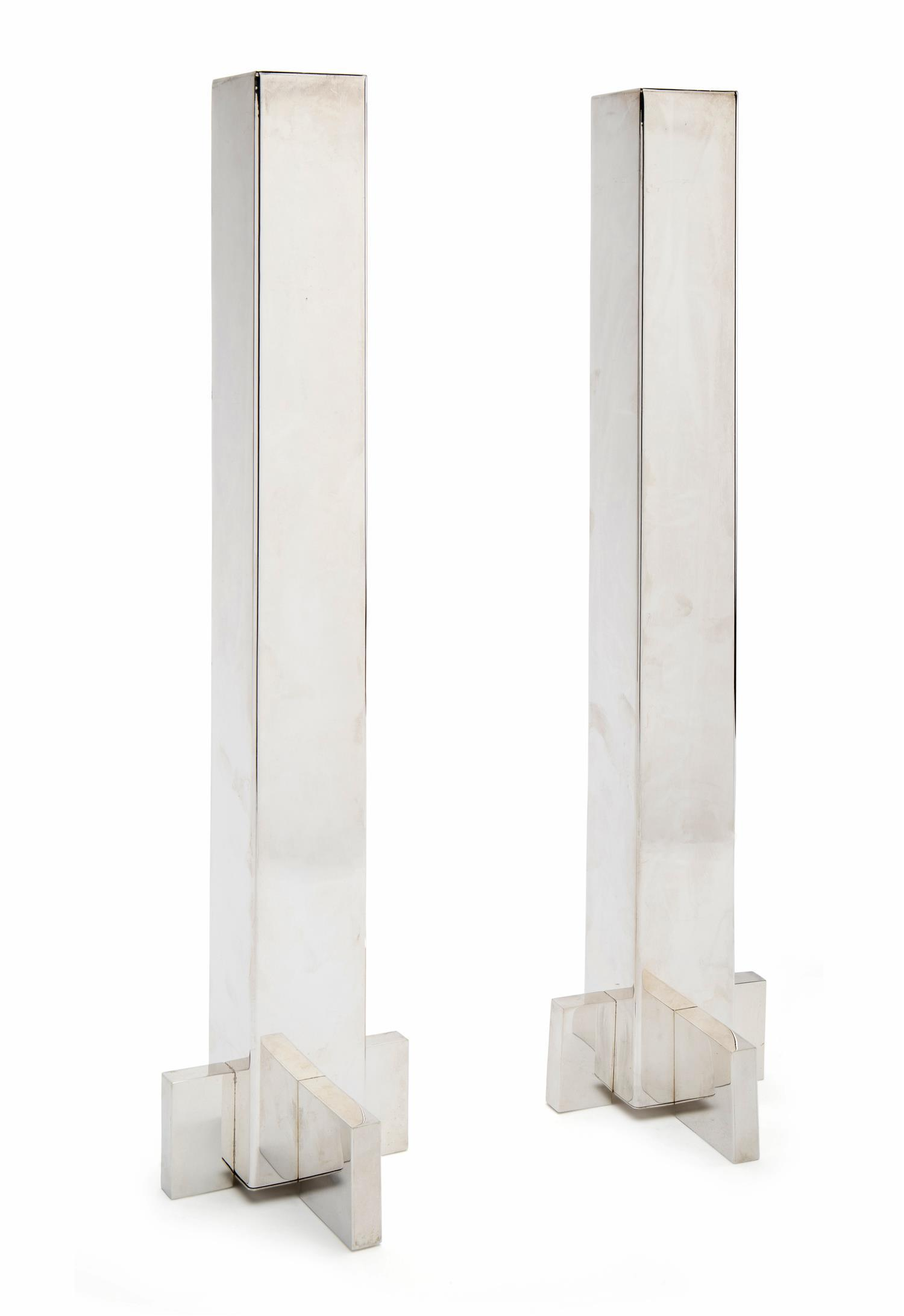 A pair of Antonio Pineda sterling silver candlesticks