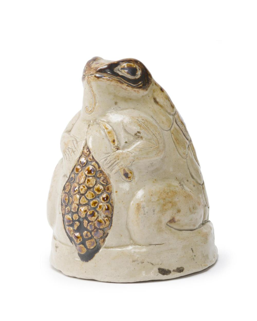 "Francisco Toledo, (1940-2019 Mexican), ""La Rana"", Ceramic with glaze, 4.25"" H x 3.75"" W x 3.125"" D"