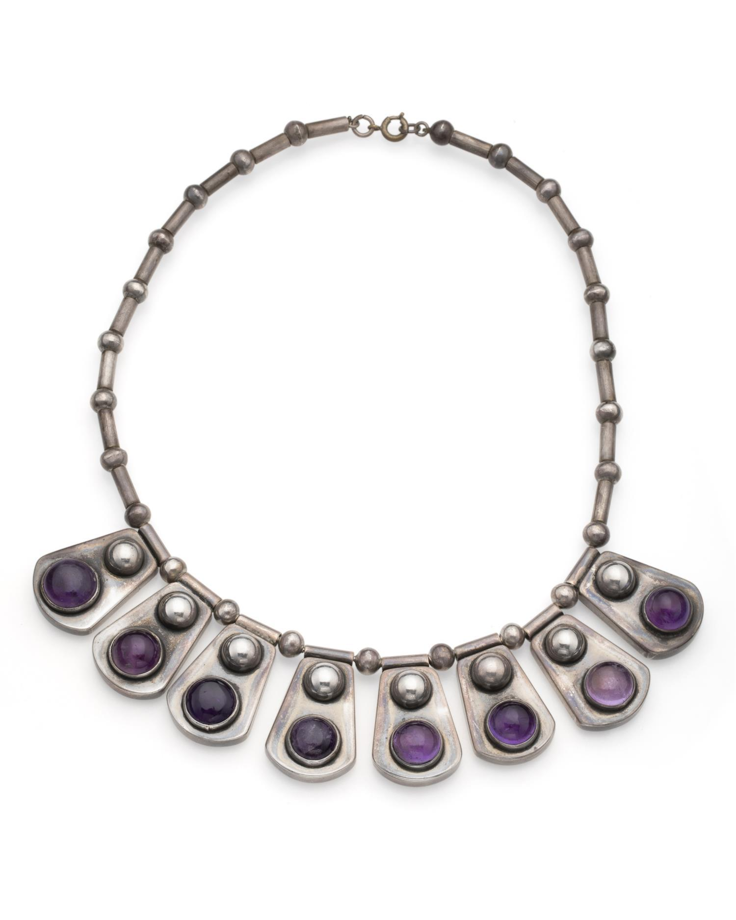 A Rafael Dominguez silver and amethyst necklace
