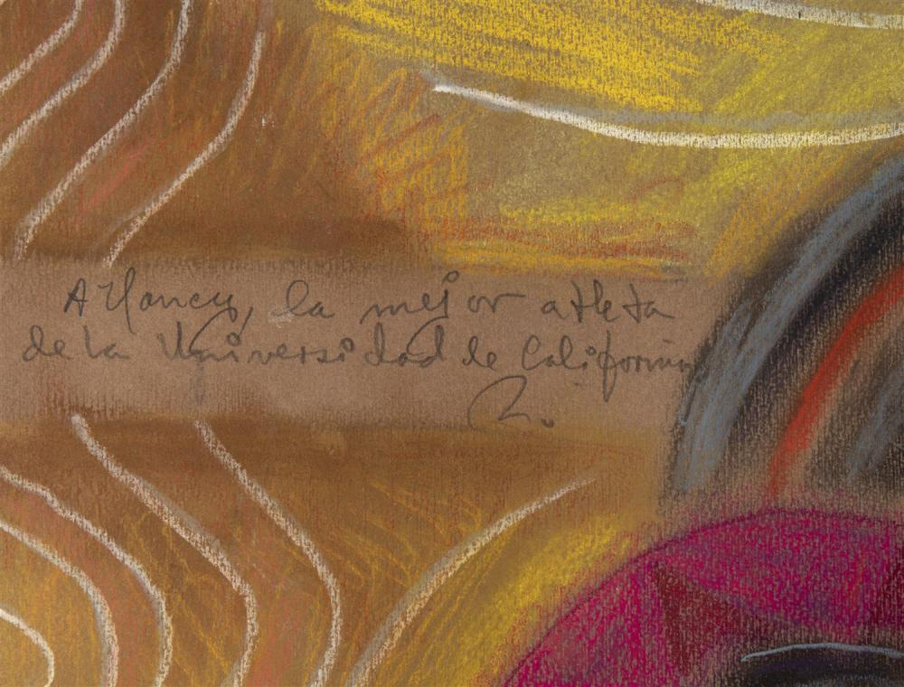 Rodolfo Nieto, (1936-1985, Mexican), Untitled abstract, Pastel on paper, 39.5