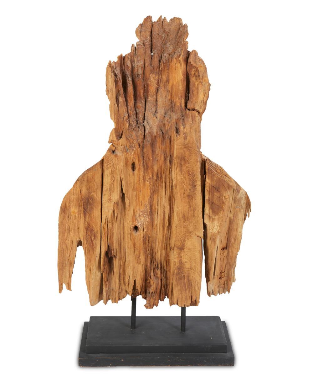 An Indonesian carved wood deity