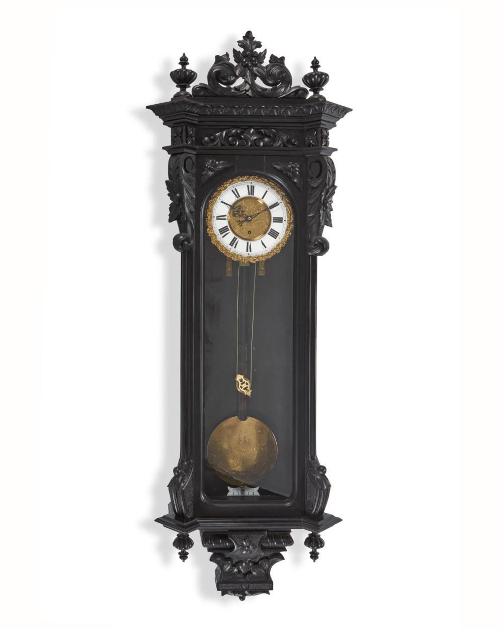 A German Vienna regulator wall clock