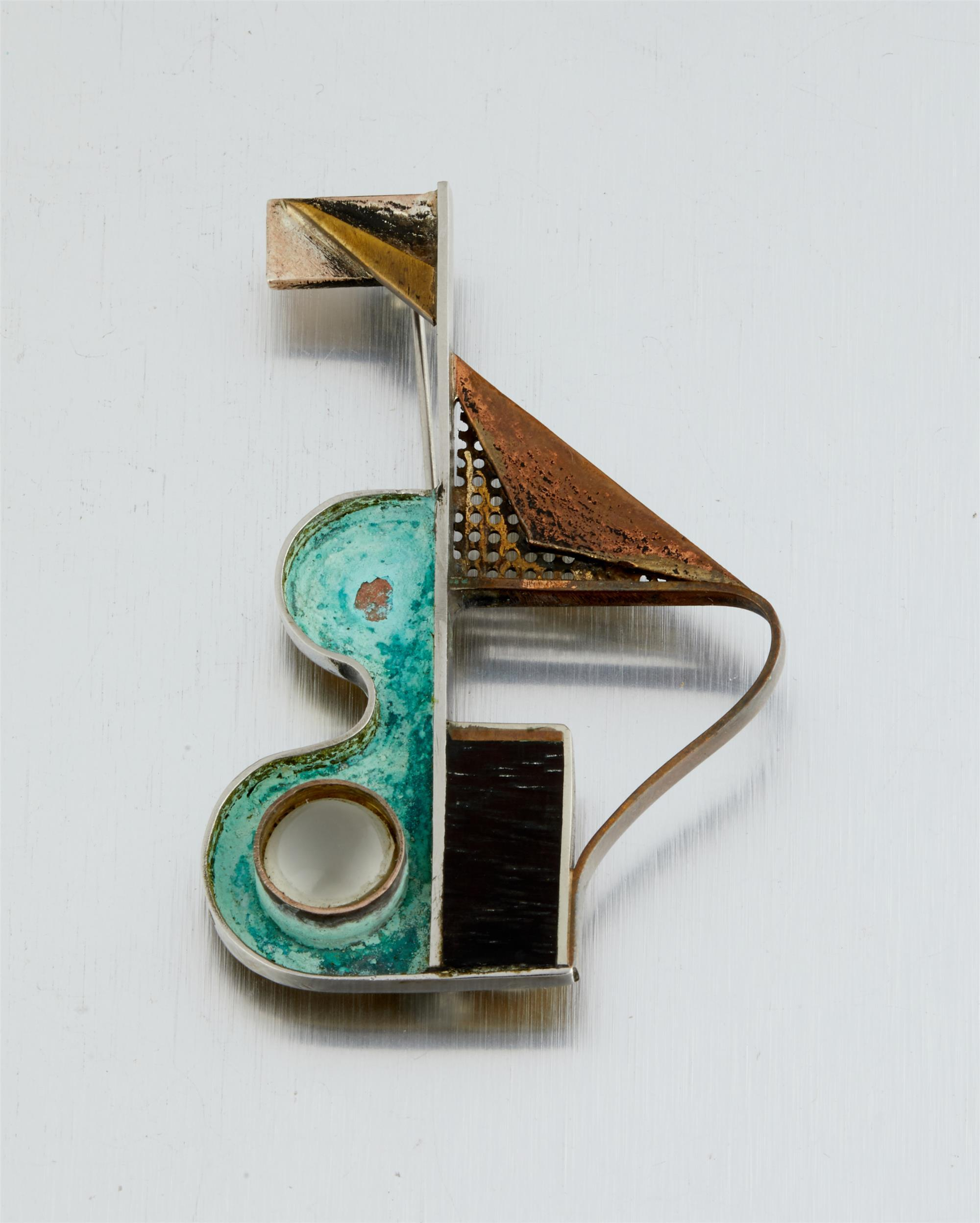 A Peter Macchiarini mixed-metal brooch