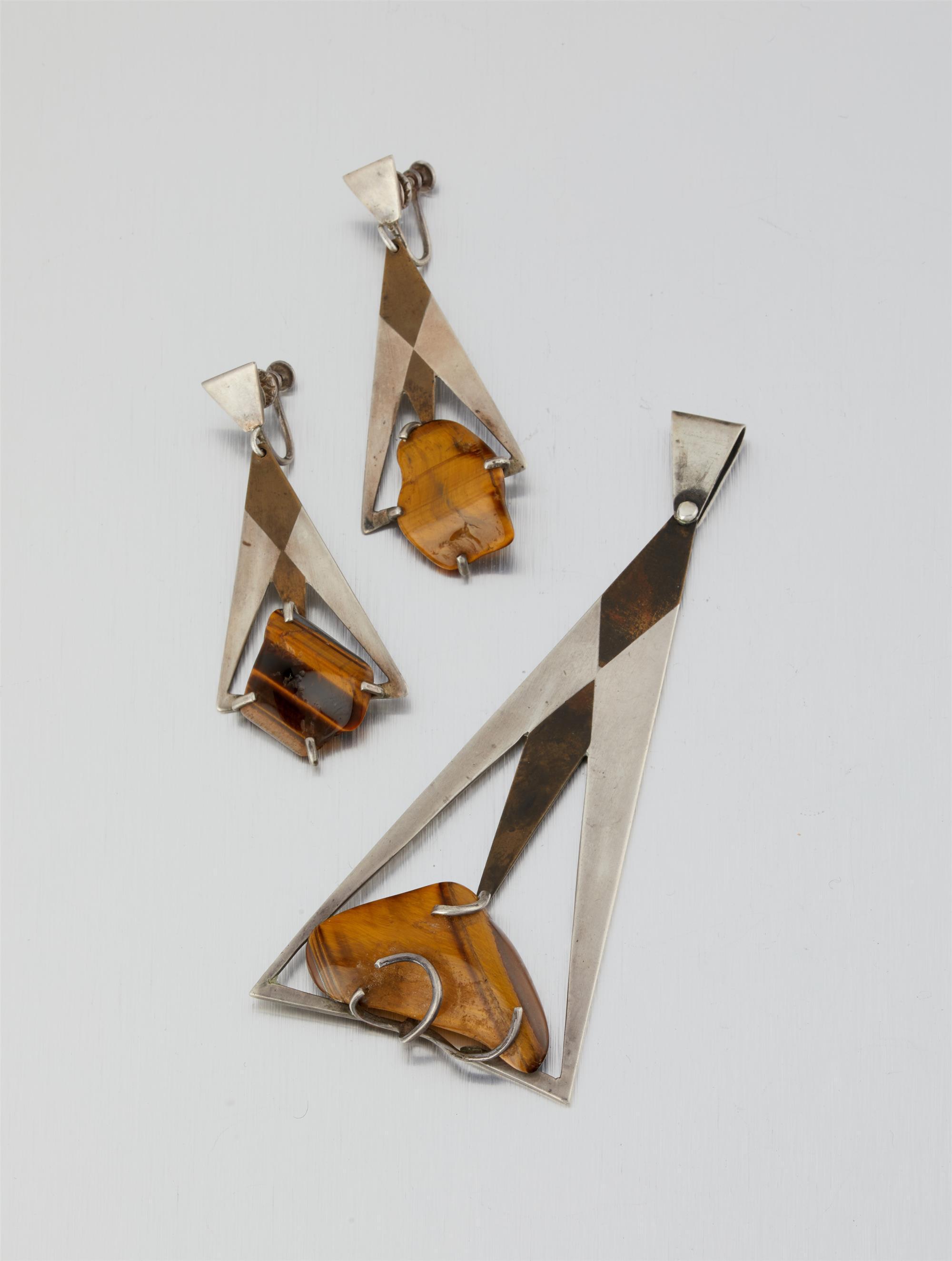 A set of Los Castillo modernist jewelry
