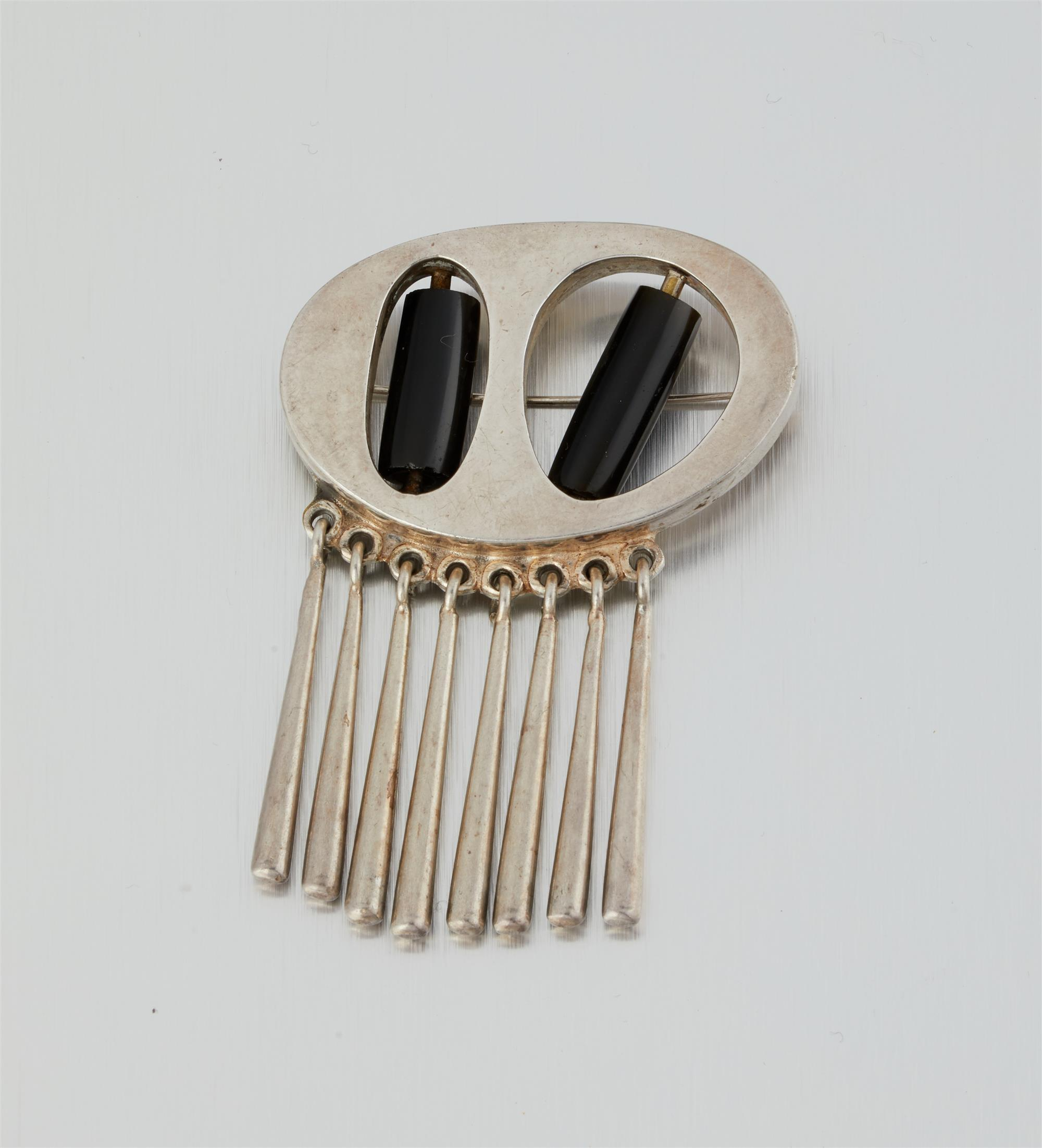 A Los Castillo silver pendant/brooch