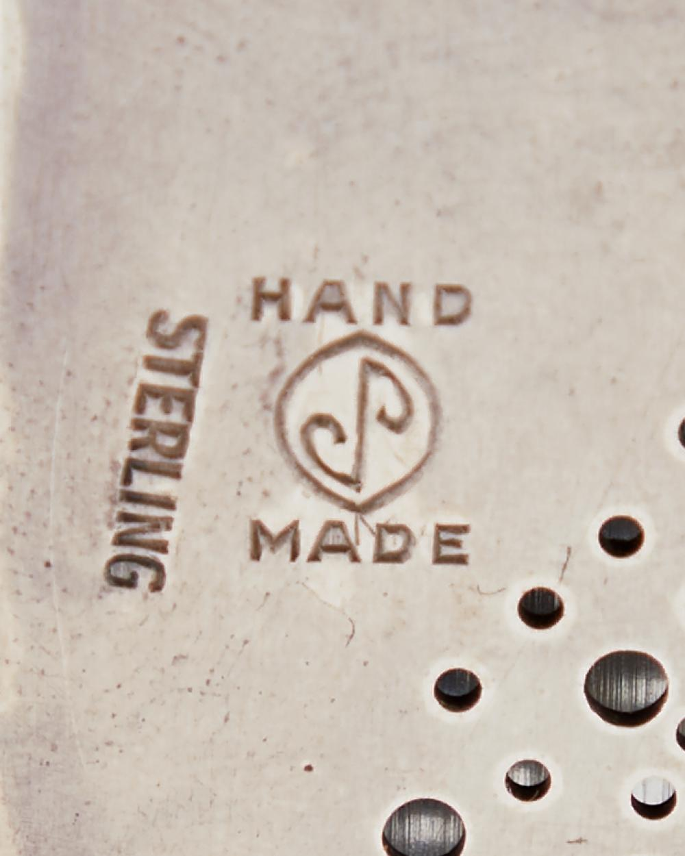 A James Parker Modernist sterling silver pendant