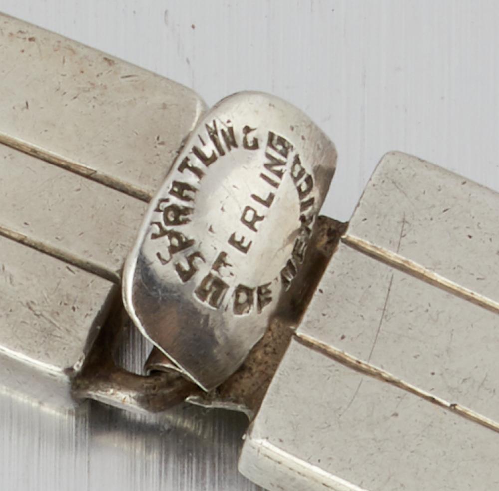 A William Spratling for Conquistador sterling silver hardstone necklace