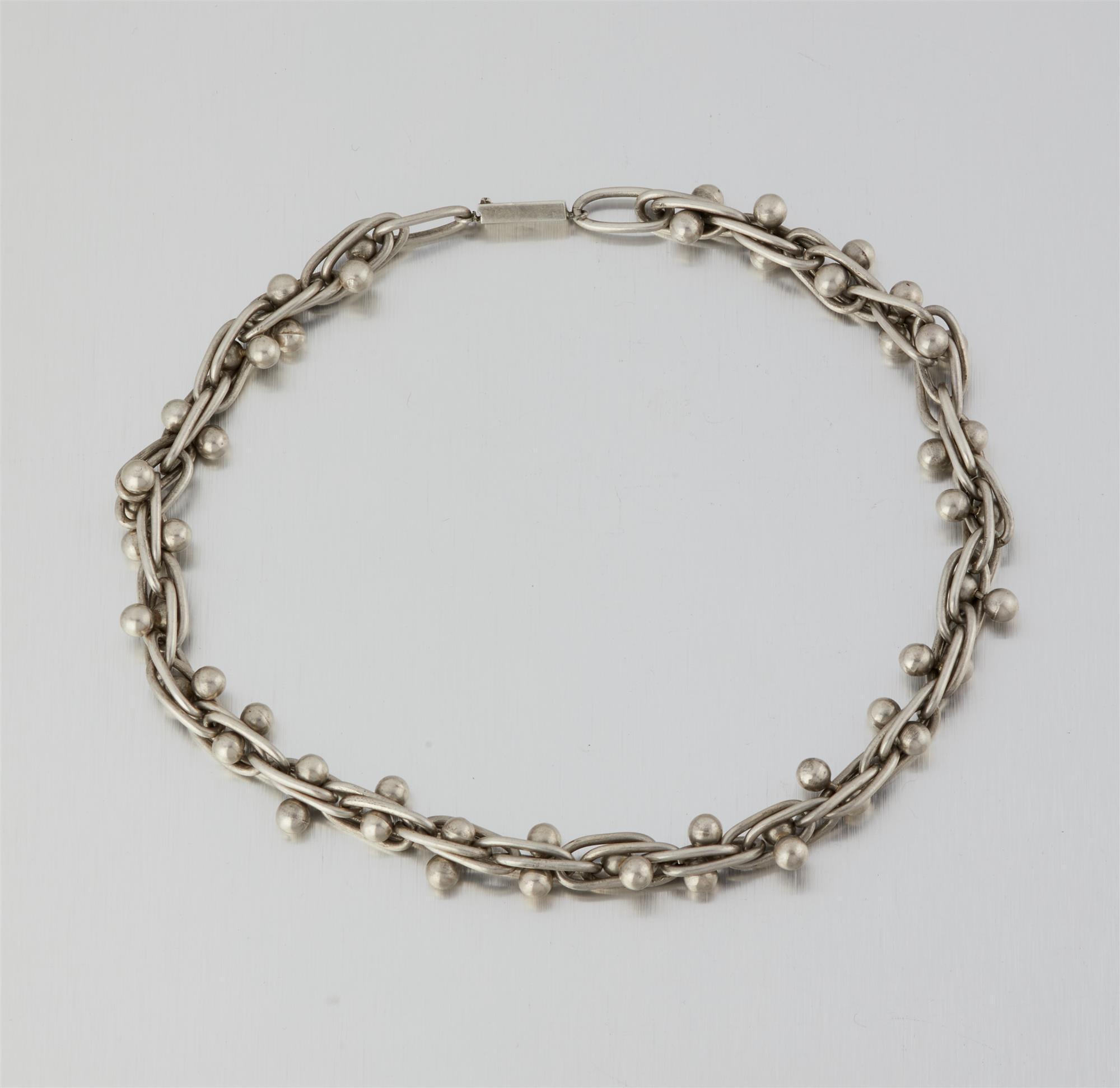 """A William Spratling """"DNA"""" link silver necklace"""