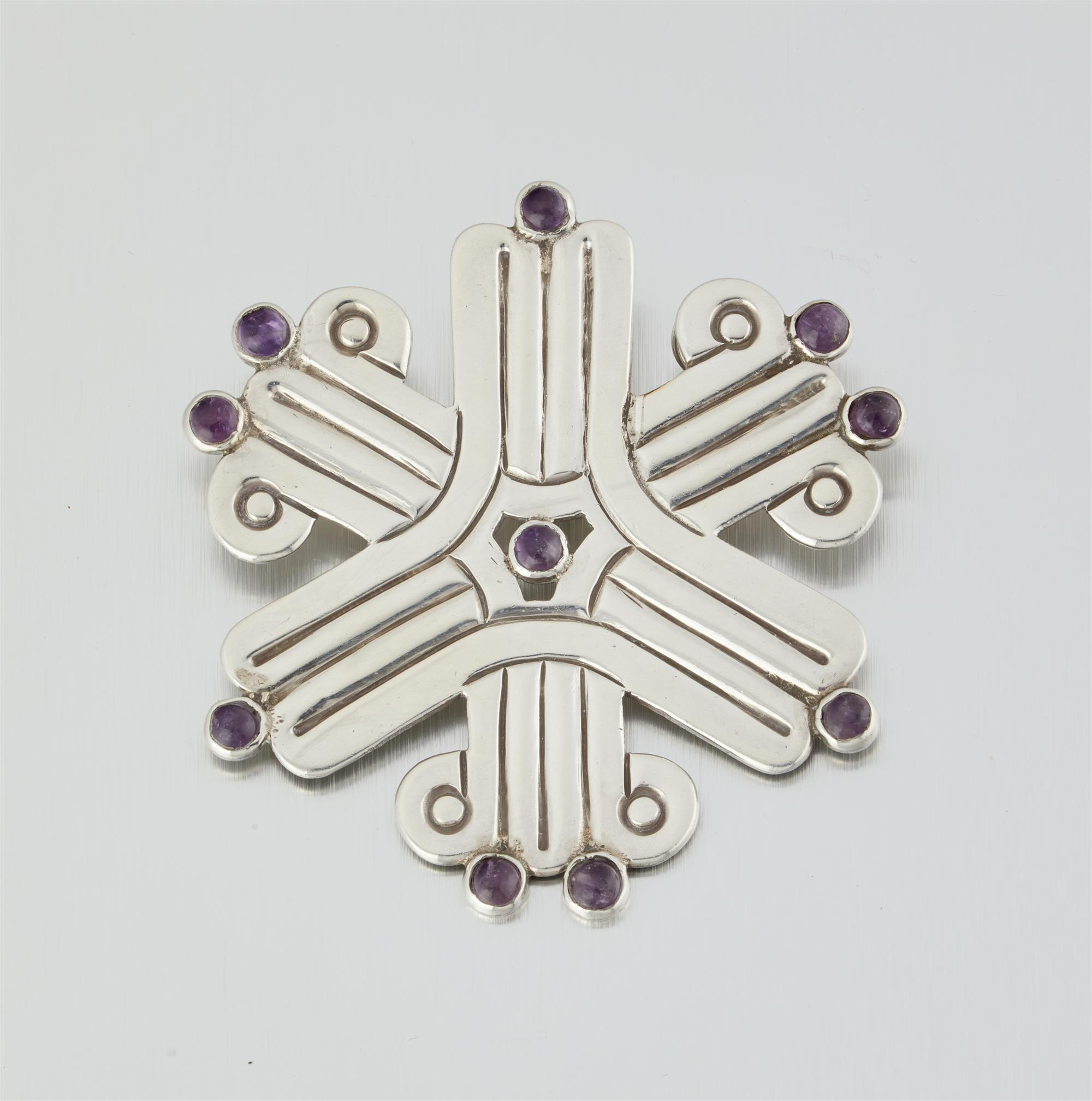 A William Spratling sterling silver and amethyst brooch/pendant