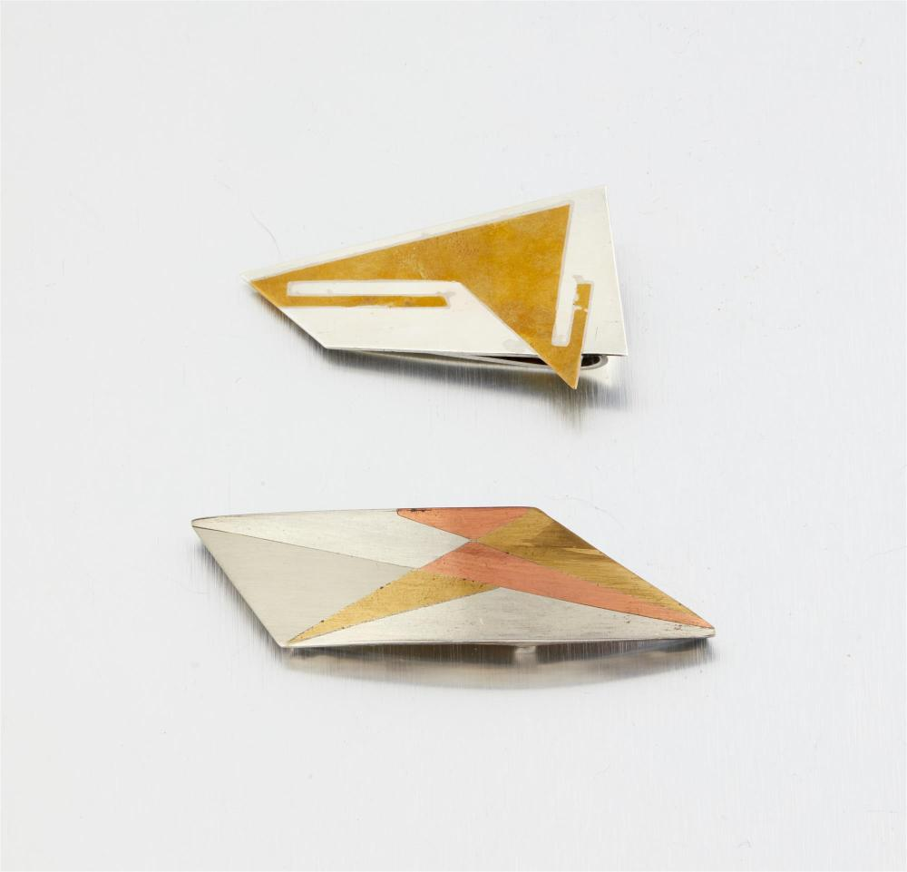 An assembled set of Antonio Pineda mixed-metal jewelry