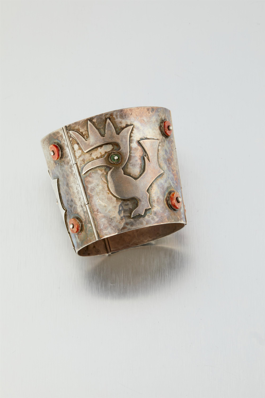 A Graziella Laffi silver and shell bracelet