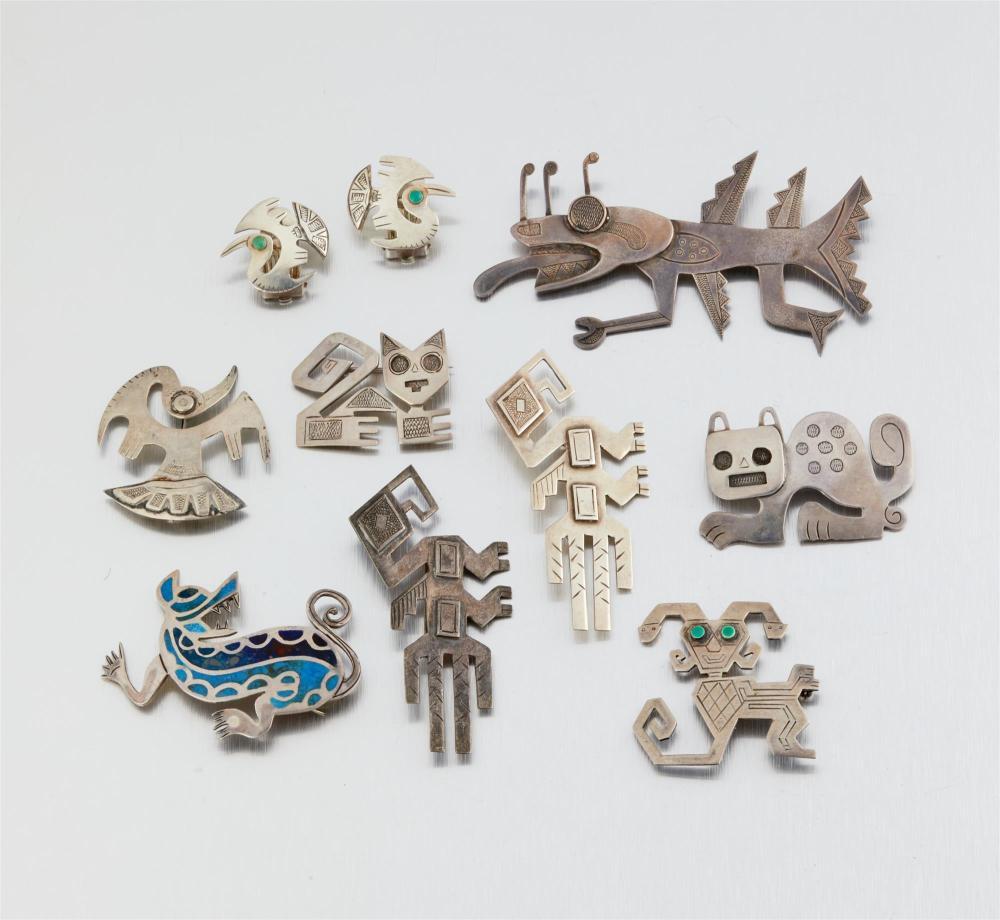 A group of Graziella Laffi silver jewelry