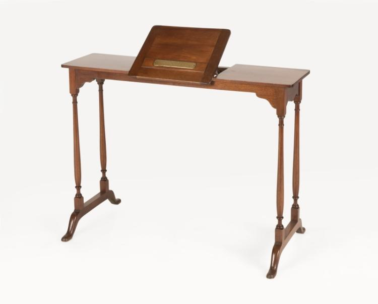 Lot A Mahogany Book Stand Royal Gift Of The Queen