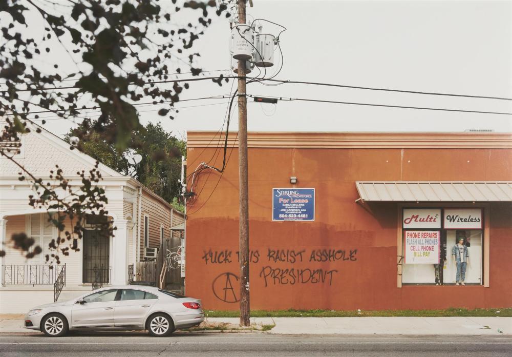 "An-My Lê, (b. 1960, Vietnamese/American), ""Fragment I: Graffiti, November 9, New Orleans, Louisiana,"" from Silent General, 2016, Inkjet"