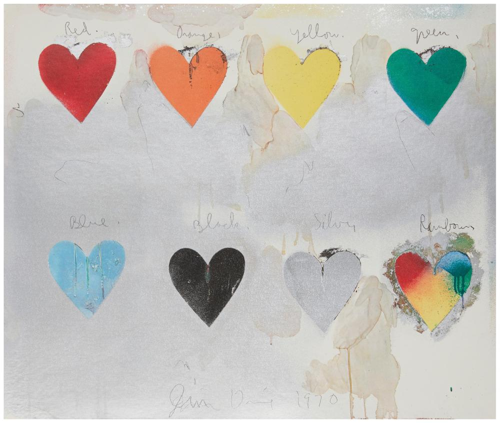 """After Jim Dine, (b. 1935, American), """"Look at Dine"""" Exhibition Poster, 1970, Color offset lithograph on paper laid to artist's board u"""