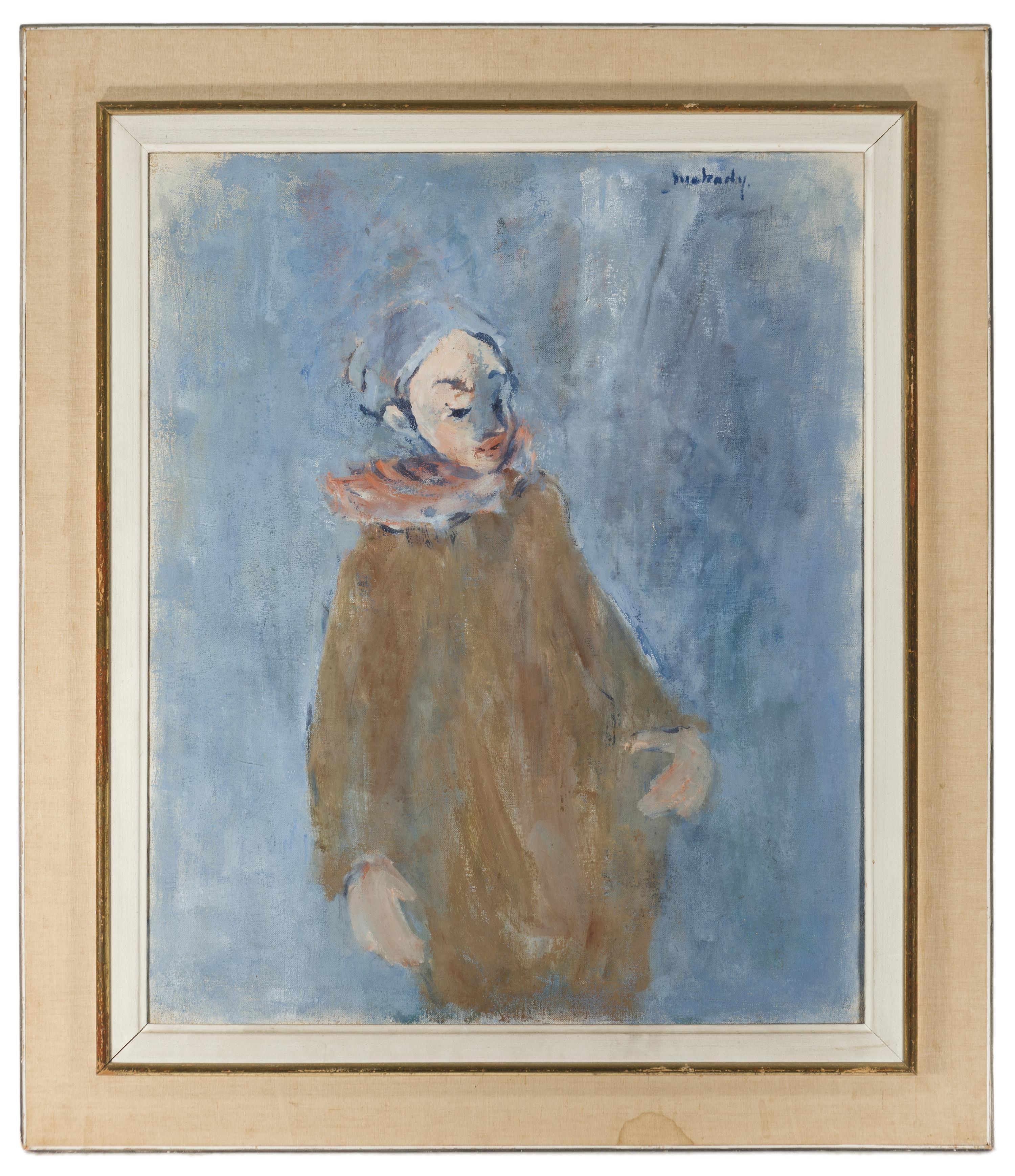 "Moshe Mokady, (1902-1975 Israeli), Portrait of a boy in a hat, Oil on canvas, 28.75"" H x 23.5"" W"