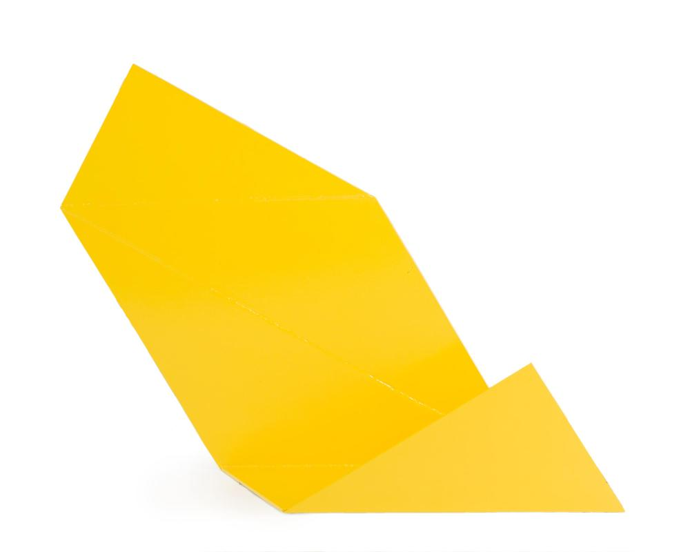 Betty Gold, (b. 1935 California), Untitled (yellow form), Painted steel, 46