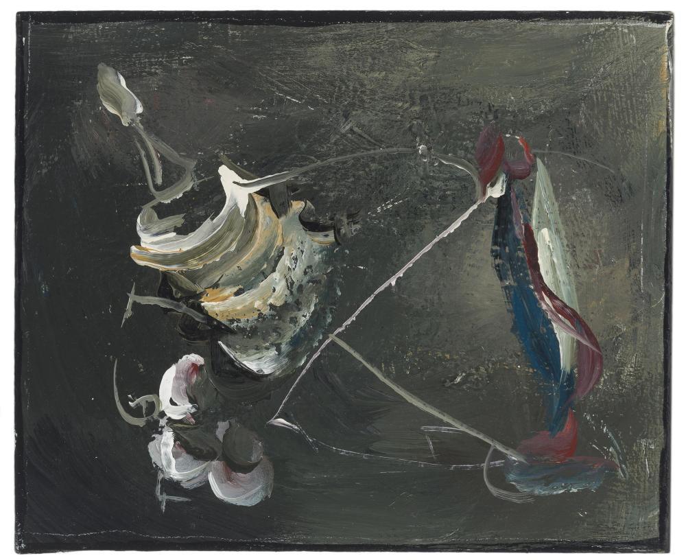 "Katy Moran, (b. 1975 British), Untitled, 2008, Acrylic on canvas, 15"" H x 18"" W"