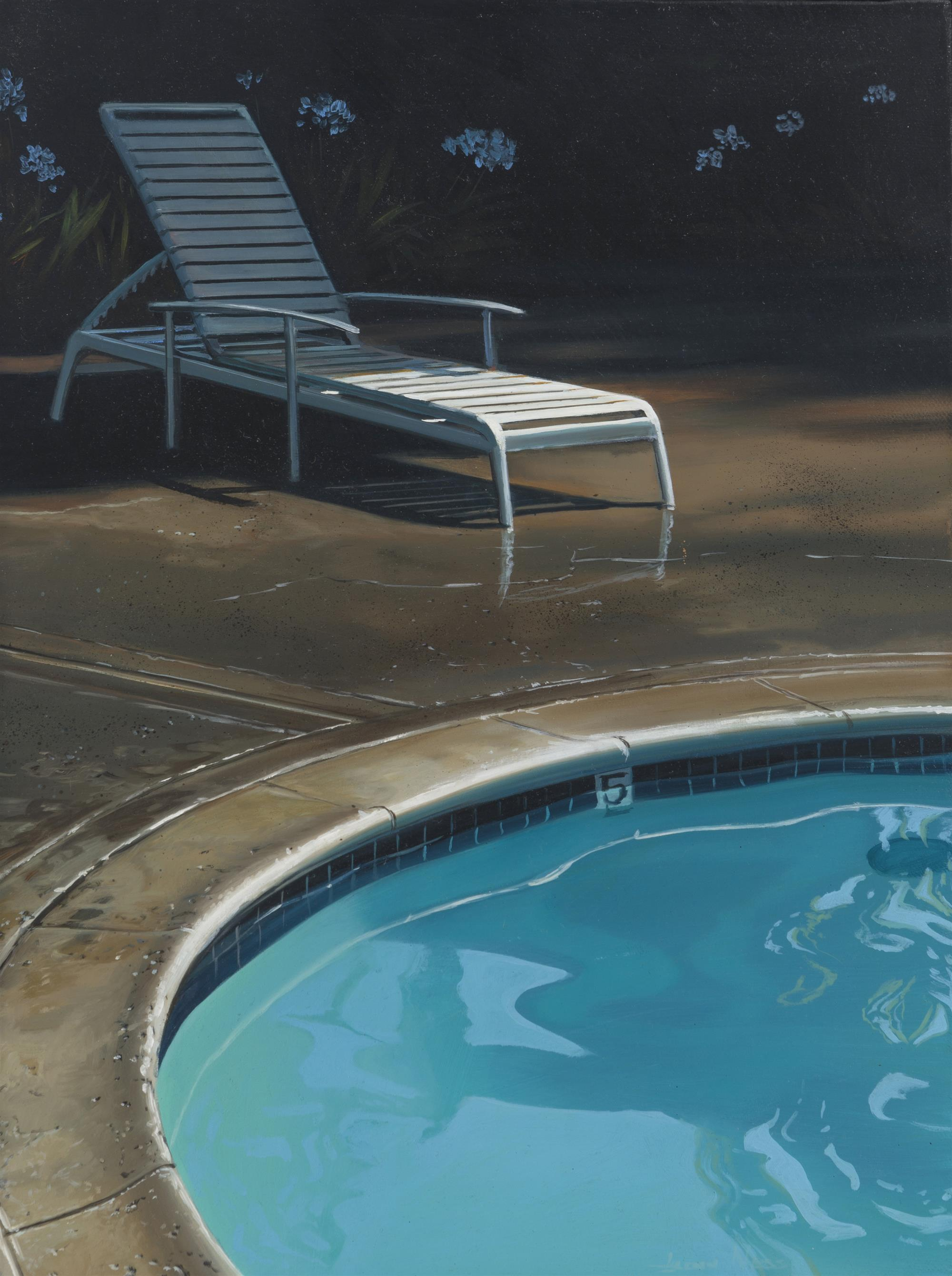"""Glenn Ness, (b. 1959 American), """"Waiting for the Epiphany"""", Oil on canvas, 16"""" H x 12"""" W"""