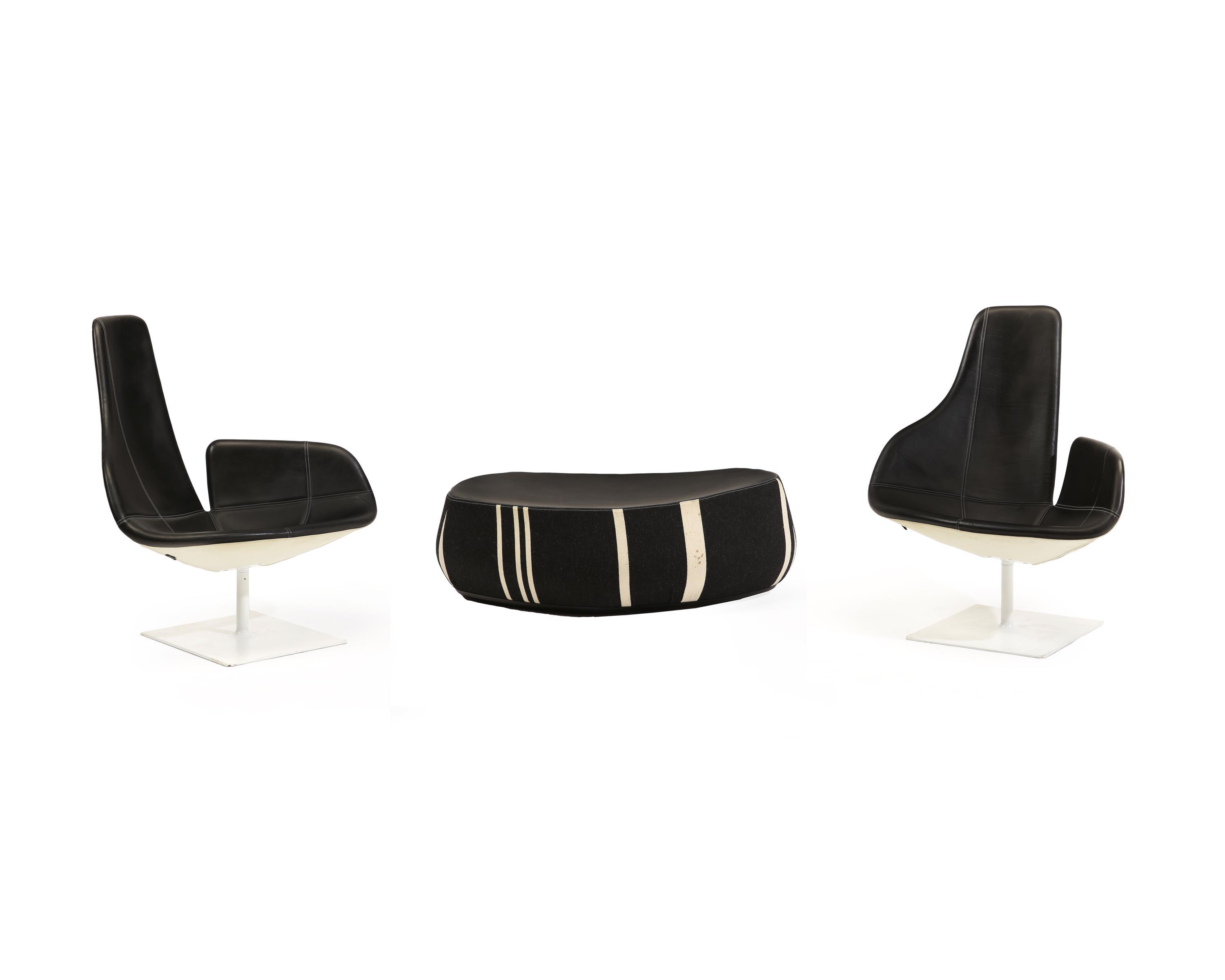 """A Patricia Urquiola for Moroso """"Fjord"""" armchairs and stool"""