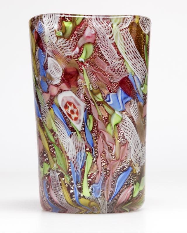 A Murano art glass ''tutti frutti'' vase, Anzolo Fuga