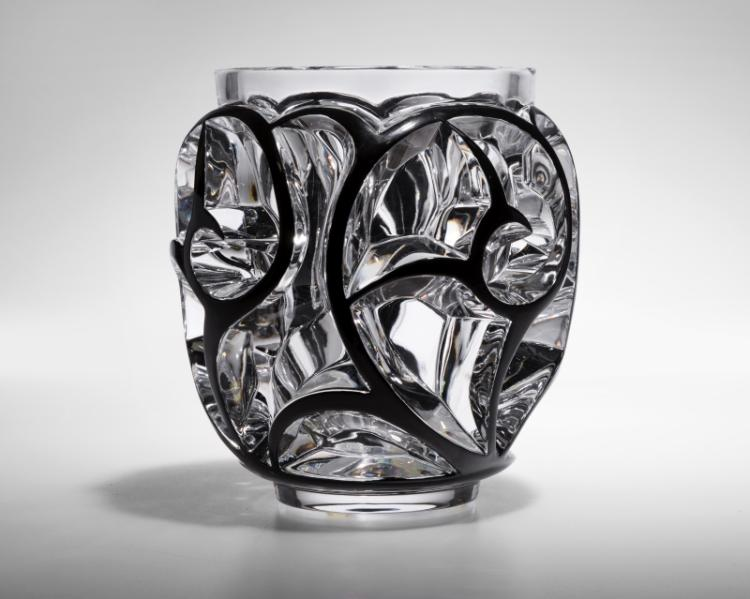 A Lalique France ''Tourbillons'' art glass vase