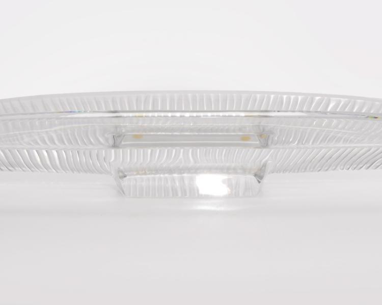 A Baccarat ''Empriente'' art glass centerpiece
