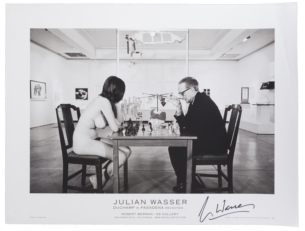 "Julian Wasser, (20th Century American), ""Duchamp in Pasadena Revisited..."", Poster, Image: 13.5"" H x 20"" W"
