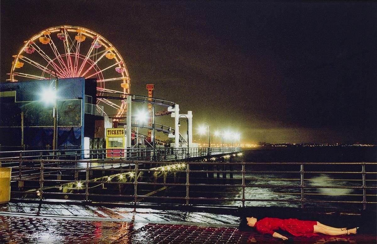 """Melanie Pullen, (1975-* American), """"Ferris Wheel,"""" 2004 (from """"High Fashion Crime Scenes""""), C-print face mounted to acrylic, 36"""" H x 54"""