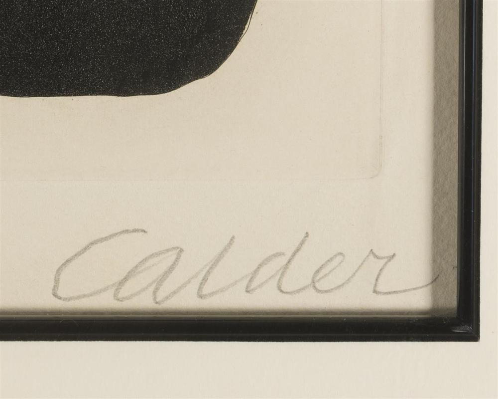Alexander Calder, (1898-1976 New York, NY), Untitled composition, 1967, Color etching on paper, Plate: 13.5