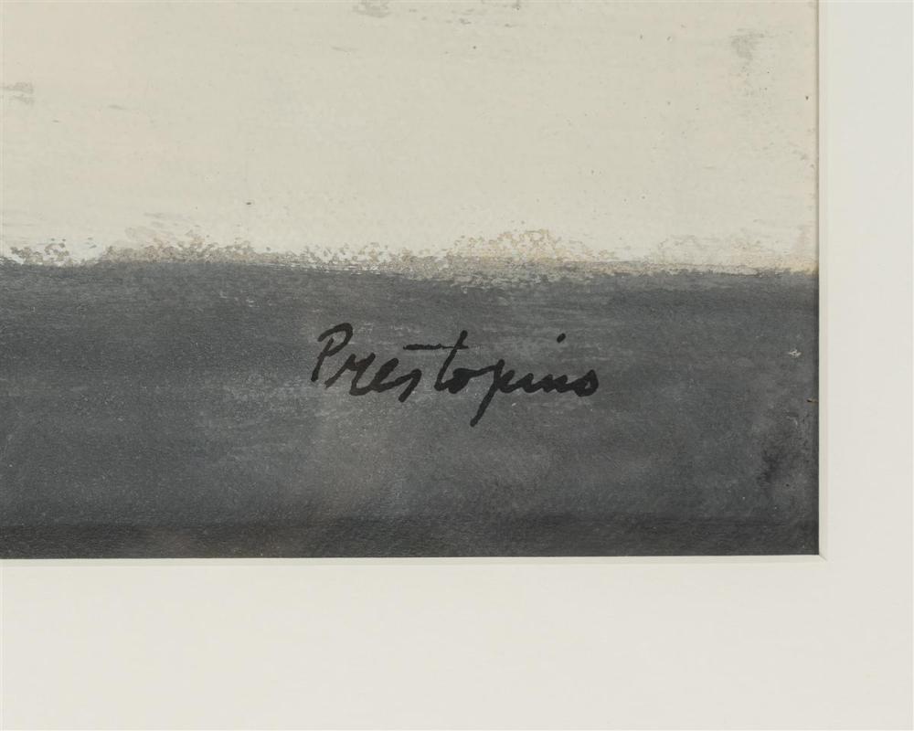 Gregorio Prestopino, (1907-1984 New York, NY), Sleeping child, Watercolor on paper under glass, Sight: 21