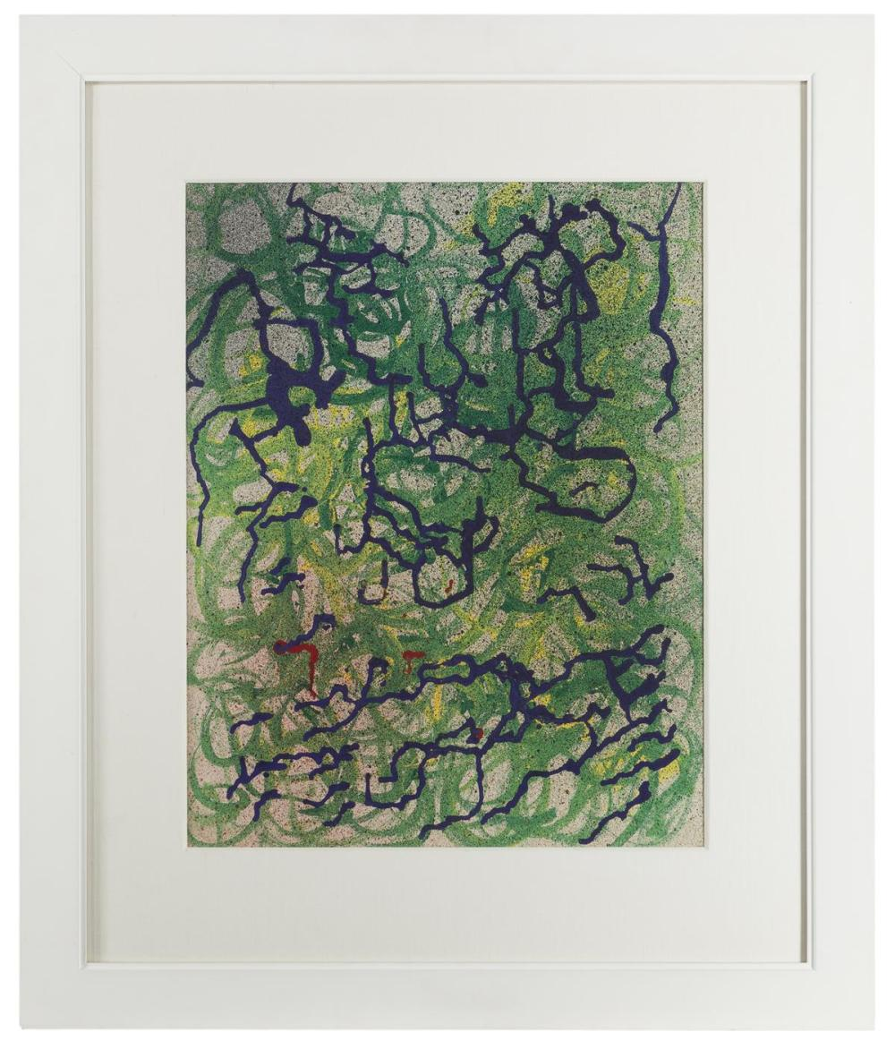 Robert B. Young, (20th Century Oakland, CA), Abstract, circa 1950, Oil on board under glass, Sight: 19