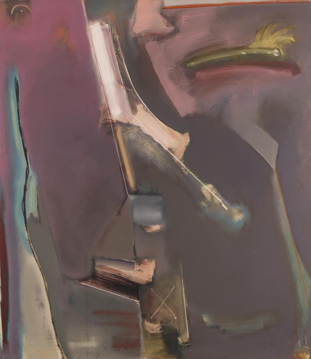 """Stephen Greene, (1917-1999 Valley Cottage, NY), """"Remembrance,"""" 1978, Oil on canvas, 60"""" H x 60"""" W"""