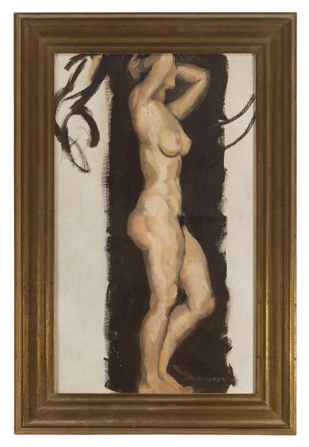 Mabel Alvarez, (1891-1985 Los Angeles, CA), Study of a nude, Oil on canvas, 18