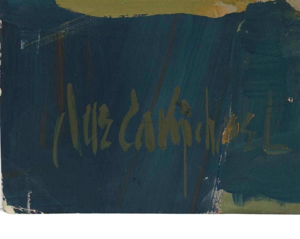 Jae Carmichael, (1925-2005 Los Angeles, CA), Crucifixion, Watercolor and gouache on paper, Sheet: 22