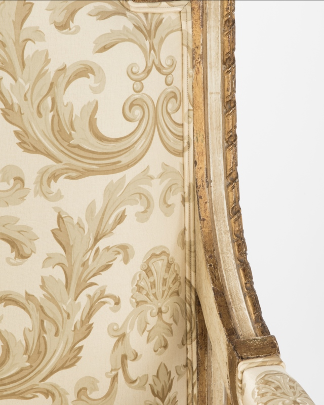 A pair of Louis XVI-style fauteuils